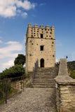 Tornet - medeltida slott av Roccascalegna Arkivfoto