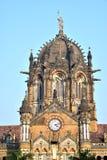 Tornet på Victoria Terminus, Bombay Arkivbild