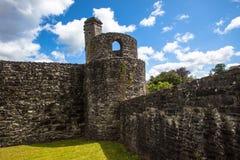 Tornhörn av den slottstrukturBoyle abbeyen Arkivfoto