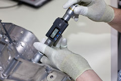 Tornillo de micrómetro interior Imagen de archivo