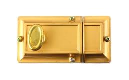 Tornillo de seguridad para las puertas caseras Imágenes de archivo libres de regalías