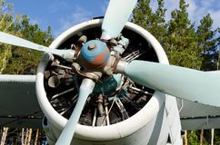 Tornillo del aeroplano Imagenes de archivo