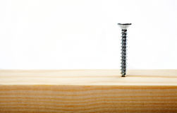 Tornillo en madera Fotos de archivo libres de regalías