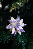 Tornillo Kusudama Origami decoration in Christmas Tree Royalty Free Stock Photo