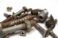 Tornillo oxidado Foto de archivo