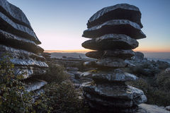 The Tornillo in Torcal, Antequera, Malaga Royalty Free Stock Images
