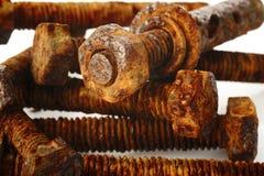 Tornillo y tuerca oxidados Fotografía de archivo