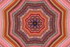 Tornillos caleidoscópicos de la tela que acolcha Imagen de archivo
