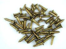 Tornillos de cobre amarillo Fotografía de archivo libre de regalías