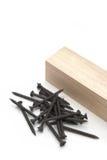 Tornillos de madera Foto de archivo