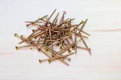 Tornillos de madera Fotografía de archivo