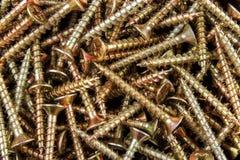 Tornillos de madera Foto de archivo libre de regalías