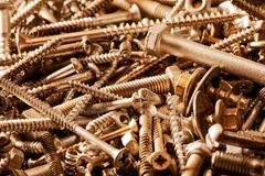 Tornillos de metal fotografía de archivo