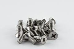 Tornillos de metal Fotos de archivo libres de regalías