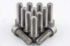 Tornillos de metal Foto de archivo libre de regalías