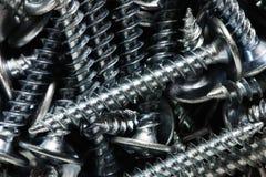 Tornillos de metal de la construcción Imágenes de archivo libres de regalías