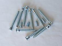 Tornillos del hierro para las estructuras de madera Imagen de archivo libre de regalías