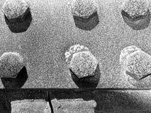 Tornillos del puente del hierro   Fotos de archivo