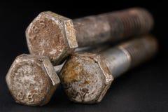 Tornillos oxidados Foto de archivo