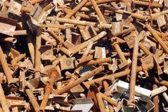 Tornillos oxidados Fotos de archivo