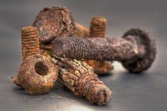 Tornillos oxidados Fotografía de archivo