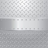 Tornillos plateados de metal ilustración del vector