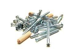 Tornillos y herramientas Fotografía de archivo