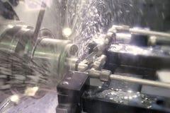 Tornio, fresatura di CNC Immagini Stock Libere da Diritti