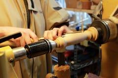 Tornitura di legno Fotografia Stock