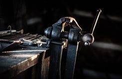 Torno antigo do ferreiro Imagem de Stock Royalty Free