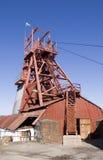 Torno de la elevación de la mina de carbón fotografía de archivo