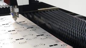 Torno del laser almacen de metraje de vídeo