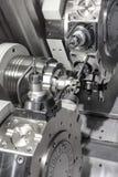 Torno, el moler del CNC Fotos de archivo