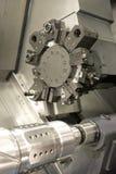 Torno, el moler del CNC foto de archivo libre de regalías