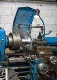 Torno industrial metalúrgico Foto de archivo
