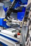 Torno, trituração do CNC Fotografia de Stock