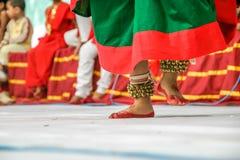 Tornozelo Bels de Ghungroos- para a dança clássica Fotos de Stock Royalty Free