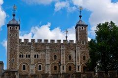 Tornslott, London, England Arkivfoto