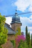 Tornspira av den nya slotten i Baden-Baden Arkivfoton