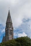 Tornspira av katolska kyrkan av Clifden, Irland Royaltyfria Foton