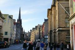 Tornspira av navet som ses från storgatan, Edinburg, Skottland arkivfoton