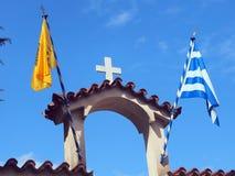Tornspira för ortodox kyrka Royaltyfri Bild