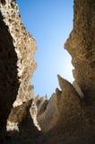 Tornspiror av sandsten nära Rocky Mountains Fotografering för Bildbyråer
