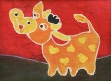 Toro arancione Immagini Stock