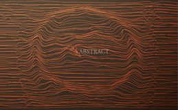 Toro astratto o un tunnel, il buco nero, la curvatura di spazio illustrazione di stock
