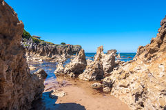 Toro Beach, Llanes. Asturias, north of Spain royalty free stock images