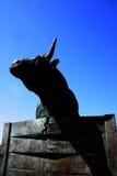 Toro de bronce Imagenes de archivo