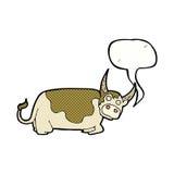 toro de la historieta con la burbuja del discurso Fotos de archivo