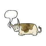 toro de la historieta con la burbuja del discurso Fotos de archivo libres de regalías