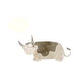 toro de la historieta con la burbuja del pensamiento Foto de archivo libre de regalías